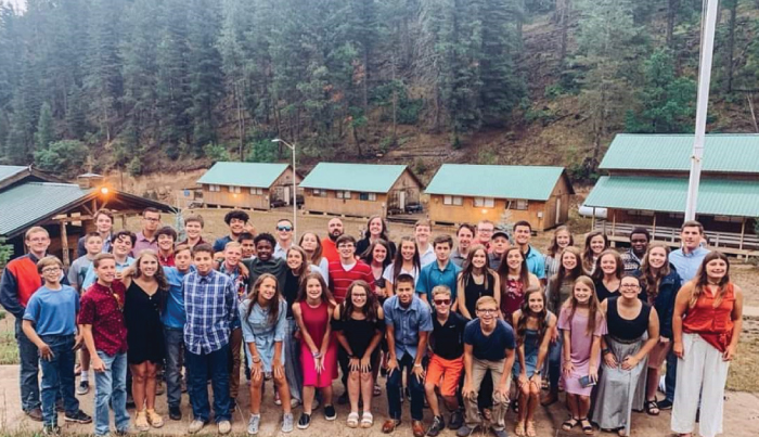 The Childress youth group at Pine Springs